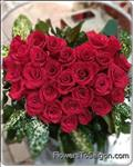 heart shape with 20 Red Roses
