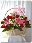 This romantic arrangement of Stargazer Lilies and Red Roses will let your loved one know just how great the memories have been.
