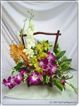 This multicolored orchids bouquet is perfect to send for just about any occasion. Approximately 40cmH.